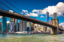 Ponte do Brooklyn e Horizonte de Manhattan