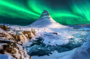 Northern Lights over Mount Kirkjufell, Iceland