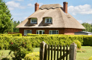 Traditional English Thatched Roof House