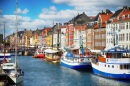 Nyhavn Waterfront, Copenhague, Dinamarca