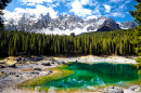 Lago Carezza, Dolomites, Alpes Italianos