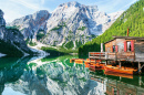 Lago Braies, Alpes Italianos