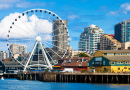 Seattle Ferris Wheel and Waterfront